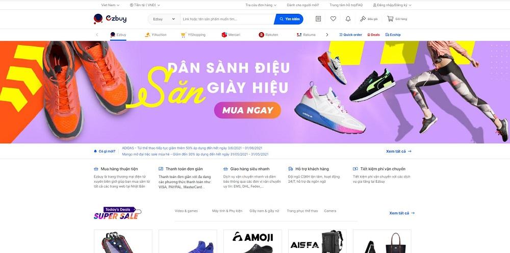 Mua hàng Nhật ngay tại Việt Nam bằng hình thức đấu giá Yahoo Auction trên Ezbuy