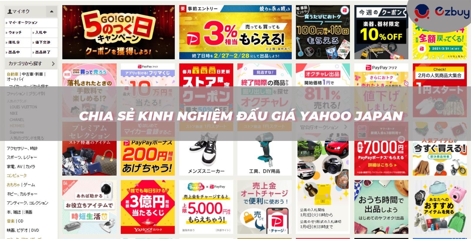 Chia sẻ kinh nghiệm đấu giá Yahoo Japan